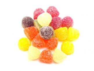 Vegan American Hard Gum sweets are a retro sweet option with a chewy jelly fruit flavoured centre and sugar coating