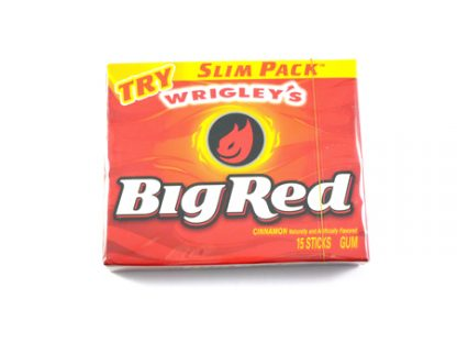 Big Red Gum Cinnamon Gum is a popular spicy chewing gum from America