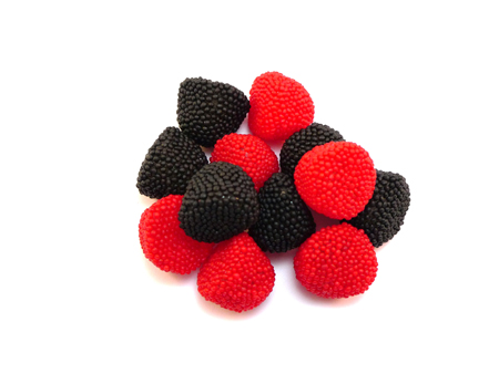 Black and Red Jelly Berry Sweets are tasty jelly sweets flavoured with fruit and coloured black and red