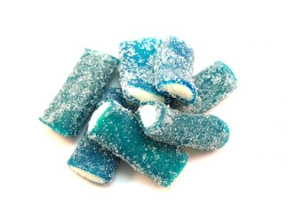 Blue Raspberry Rockets are large and chewy fizzy sweets with a fizzy coating and blue raspberry flavour