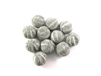 Bullseyes Mints are a traditional circular mint with distinctive black and white stripes and a full minty flavour