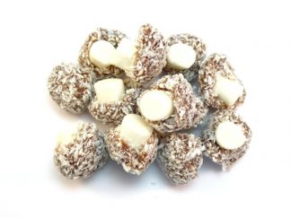 Traditional Coconut Mushrooms sweets are traditional mushroom shaped sweets covered with coconut