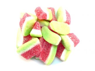 Fizzy Watermelon Slices are a super popular fizzy and sour sweet with a green and red colouring