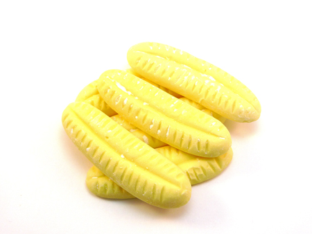 Giant bananas sweets are a popular retro sweet with a distinctive banana flavour and shape