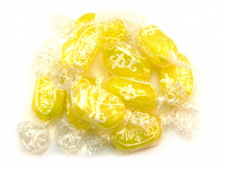 Sherbet Lemons boiled Sweets are a traditional boiled sweet with a lemon outer and a sherbet centre, beautiful in bright yellow, ours are wrapped to avoid stickiness