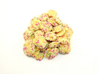 White Chocolate Snowies chocolate buttons are a traditional sweet often enjoyed with Jazzies
