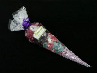 our beautiful purple sweet cone bag is a real winner for parties