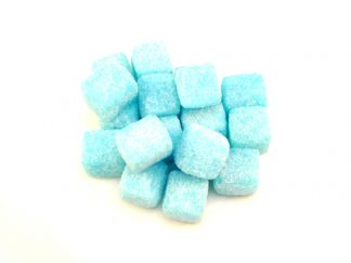 Blue Raspberry Cubes are a modern boiled sweet based on the famous kola cubes and pineapple cubes but with a pale blue colour and blue raspberry flavour