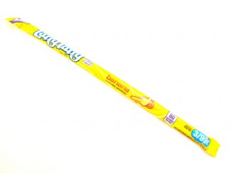 Banana Laffy Taffy American candy is a long fruit flavoured chew in a bright yellow wrapper