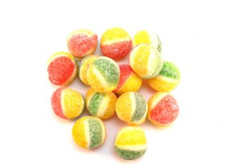 Rosey Apple Sweets are a traditional boiled sweet with a fab Apple flavour. Red, yellow and green in colour, they even look apple like