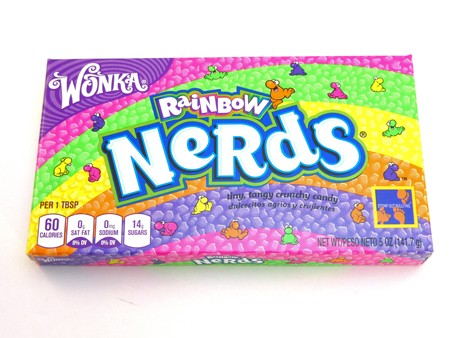 Wonka Rainbow Nerds are a super popular Theatre Box filled with a great mix of fruit flavoured crunchy and small candy
