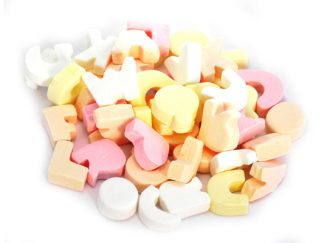 Alphabet Letter Sweets are a favourite traditional sweet - do you remember writing your name with these pastel and delicious retro sweets?