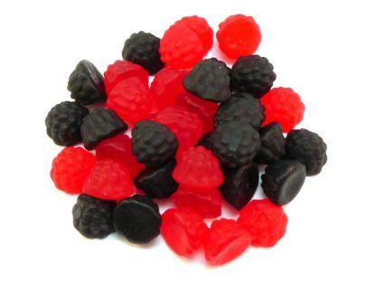 Blackberry and Raspberry Gum sweets are a lovely fruity jelly sweet in red and black