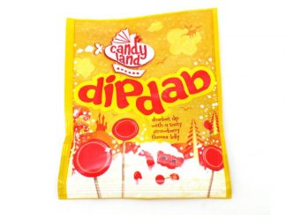 Dip Dab Sweets - The famous yellow packet of Dip Dab is always a little ray of sunshine! Sherbet dip with a strawberry lolly to dip and lick!