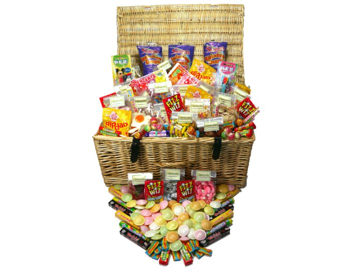 Our fabulous real quality wicker hamper is filled with the best in retro and old fashioned sweets in this Extra Large Retro Sweet Hamper