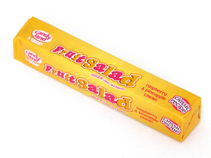 Our Fruit Salad Sweets Pack is a classic recipe and contains the famous and delicious raspberry and pineapple chewy sweets that we all know and love