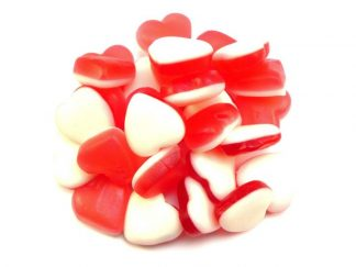 Heart Throb Sweets are manufactured by Haribo and popular because of their lovely heart shape and attractive red and white colour. A great choice for a jelly sweet