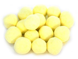 Traditional Lemon Bonbons sweets - a soft and powdery outer coating with a mouthwatering lemon flavour and a hard toffee centre. Bonbons as they used to be and such a beautiful pale yellow colour!