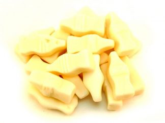 Milk Bottle Sweets are a popular traditional sweet famous for their pale cream colour and milk bottle shape