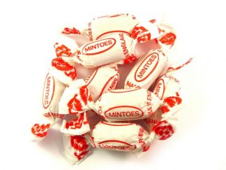 Mintoes are a traditional wrapped mint with a distinctive wrapper and a super minty flavour