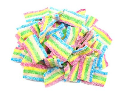Rainbow Bites are our most popular fizzy sweet and it's easy to see why! Beautiful colourful strips of fruity fizzy sweets