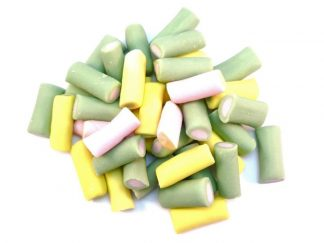 Soft Rhubarb and Custard Tubes Sweets are a modern twist on the more traditional boiled Rhubarb and Custard sweets that we all know. These tasty sweets are extremely modish and we love their attractive pale colours!