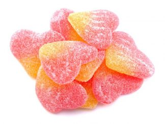 Spanish Peaches are a delicious peach flavoured sweet in a pretty pink and orange colour, a fizzy sweet favourite