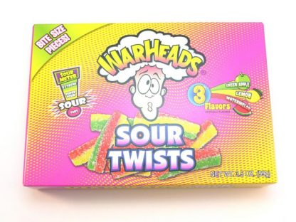 Warheads Sour Twist are a popular sour American sweet in an attractive and colourful Theatre box