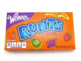A theatre box of American sweets Wonka Runts which are tiny little fruit shaped sweets
