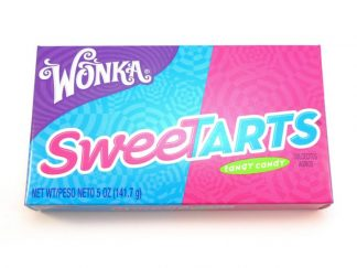 A theatre box of Wonka Sweetarts American Candy, a colourful box containing lots and lots of tangy sweets