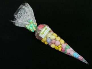If you love chocolate, our chocolate themed sweet cone bags are the perfect choice.