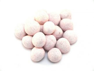 Blackcurrant and Liquorice Bonbon Sweets are an unusual sweet with a soft powdery coating flavoured as you would expect with blackcurrant and liquorice and pale pink in colour. These really work well with the scrummy toffee centre