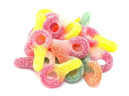 Delicious and colourful fizzy dummies sweets. A bright and cheery fizzy sweet with a distinctive dummy shape. Perfect as park of a sweet pick and mix