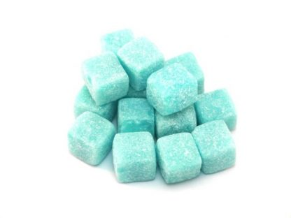 A modern twist on a traditional boiled sweet and similar to Kola Cubes and Pineapple Cubes, Blue raspberry cube sweets are popular for their colour and fabulous flavour