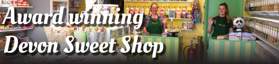 Award winning Devon sweet shop header
