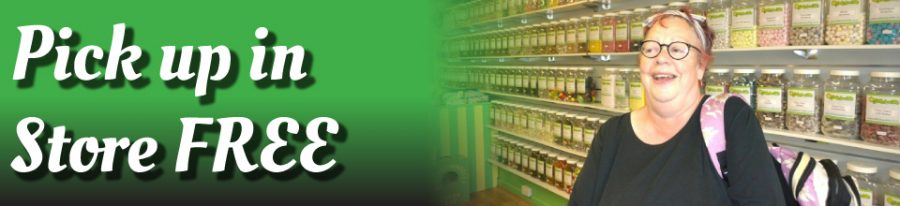 Jo Brand pick up Free online sweetshop Devon Daffy-Down-Dilly