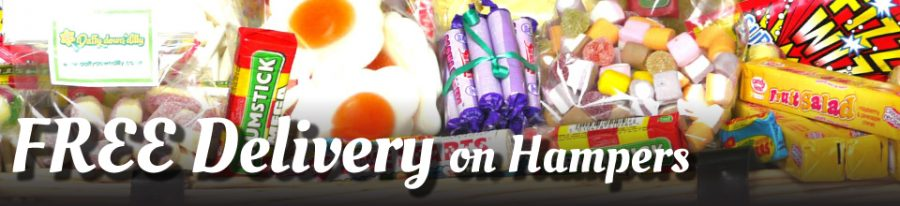 Sweet hampers free delivery from Daffy-Down-Dilly online sweet shop
