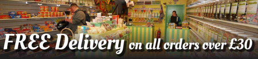online sweetshop free delivery from Devon Daffy-Down-Dilly