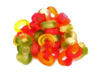 The rather delicious jelly sweet made by Haribo, Friendship rings. Fab fun to eat off your finger!