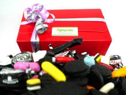 A gift box containing 1 kilo of delicious assorted liquorice