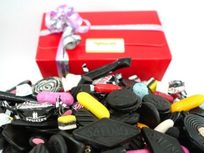 1 kilo of quality assorted liquorice in a gift box