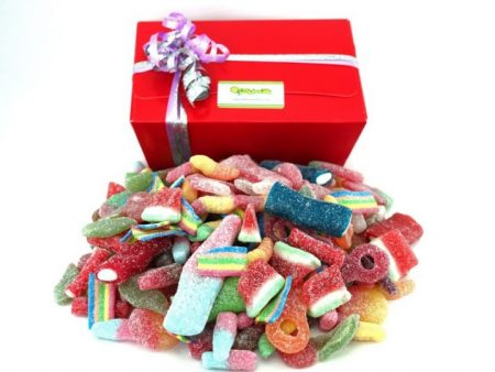 sour and fizzy sweets box selection