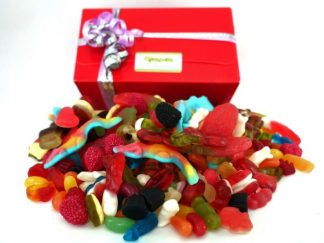 A fantastic selection of jelly and gummy sweets in a quality presentation box