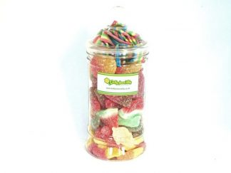 Traditional style sweet jar containing a fab fizzy sweet selection