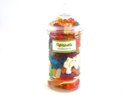 A super traditional style sweet jar filled to the very brim with the best in jelly sweets