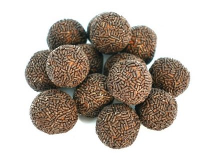 Delicious pile of scrummy chocolate rum balls - definitely not just for Christmas!