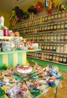 Internal shot of DaffyDownDIlly sweet shop