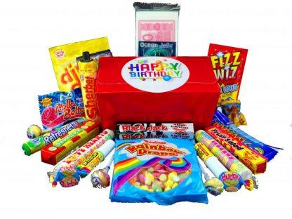 Retro sweet Birthday gift box