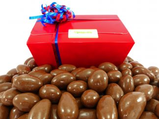 Milk chocolate Brazil nuts in a gift box