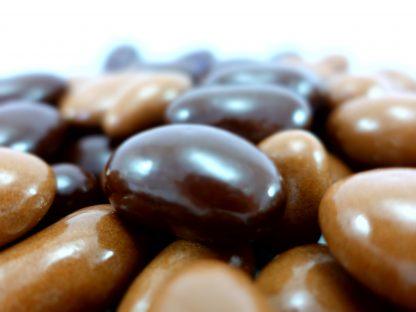Milk and dark plain chocolate brazils